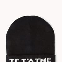 Statement-Making Je T'Aime Beanie | FOREVER21 - 1040495486