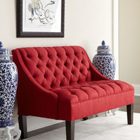 &quot;Scarlet&quot; Tufted Settee - Horchow