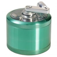 Aluminum Window Crank Herb Grinder - Green - 63mm - 4-part - Grasscity.com