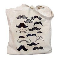 Mustache Collection Tote Bag by theboldbanana on Etsy
