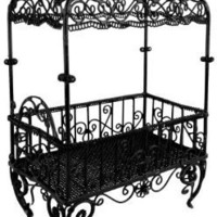 6 inch or 12.5 inch Handmade Vintage Victorian Canopy Style Black Décor Table Top Earrings Necklaces Bracelets Jewelry Holder / Organizer Stand / Display Rack