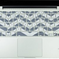 "Kuzy - Gray Chevron Zig-Zag Keyboard Cover for MacBook Pro 13"" 15"" 17"" Aluminum Unibody (fits MacBook with or w/out Retina Display) iMac and MacBook Air 13"" Silicone Skin - Gray:Amazon:Computers & Accessories"