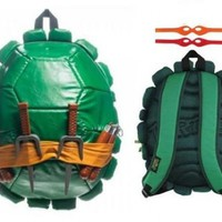 Teenage Mutant Ninja Turtles Children's Shell Backpack With Weapons & Masks