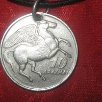 Authentic Greece Phoenix /Pegasus Vintage Coin by mysticalserina