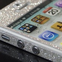 Luxury Glitter Screen Protector Front + Back + Full Body Sticker for iPhone 5