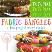 Fabric Bangles Tutorial PDF How to Make Bracelets from Scrap Fabrics | popnicutesupplies - How-To on ArtFire