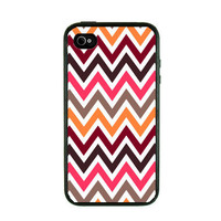 Iphone 4 Case  Colorful Chevron Iphone Case by fundakiphonecases