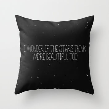 Beautiful like stars Throw Pillow by Courtney Burns