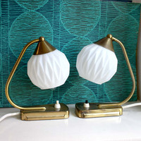Pair of Vintage Art Deco Style Midcentury Lamps