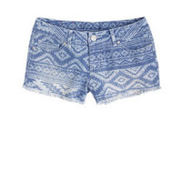 Native Print Denim Short - Delias