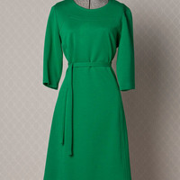 Womens 1960s Green Vintage MOD Shift Dress // by vintagesalvation