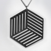 Ocular jewellery collection Cube necklace by ocularliannasheppard