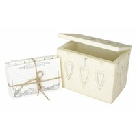 Buy Cream Wooden Recipe Indexed Storage Box