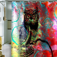 DENY Designs Home Accessories | Sophia Buddenhagen Color Owl Shower Curtain