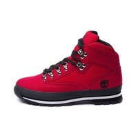 Mens Timberland Canvas Eurohiker Boot, Red | Journeys Shoes