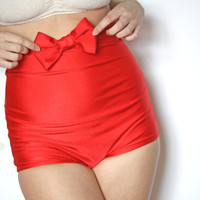 Bow High Waist Bikini red by MimiHammer on Etsy