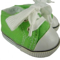 Green Sneakers Gym Shoes Fit American Girl 18 Inch Doll:Amazon:Everything Else