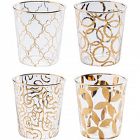 Luxe Moderne Double Old Fashioned Glasses, Set of 4