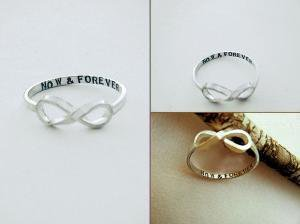 Hand Stamped Infinity Ring by donnaOdesigns on Etsy