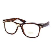 Retro Rockers - Clear - Eyeglasses With Attitude, Tortoise
