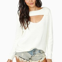 Nasty Gal Peek-A-Boo Sweater
