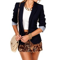 Eclipse Striped Boyfriend Blazer