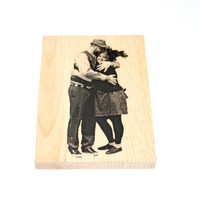 Personalized Photo Transfers on Woodblocks ONE 5x7 by ByTheSeals