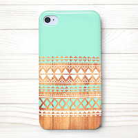 iPhone 4 Case, iPhone 4 Cases, iPhone 4 Wrap Around Case - Aztec  Wood - 197