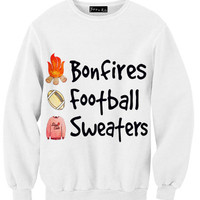 Bonfires, Football & Sweaters Sweatshirt | Yotta Kilo