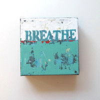 "Turquoise Original Acrylic Abstract Expressionist Painting ""Breathe"" by Brooke Howie"