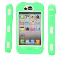 Full Protective Hard Case White Background for iPhone 4/4S Green:Amazon:Cell Phones & Accessories