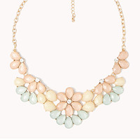 Faux Stone Bib Necklace