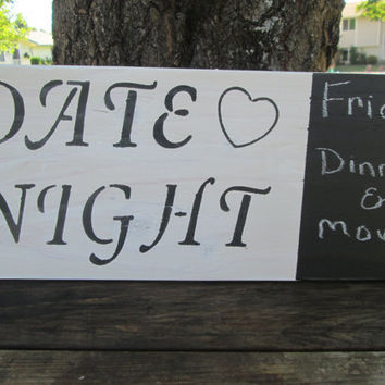 Date Night Chalk Board Sign, Chalk Board Sign, Family Sign, Couples Sign