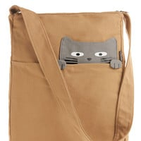 Look What the Cat Bagged In Tote in Buddy | Mod Retro Vintage Bags | ModCloth.com