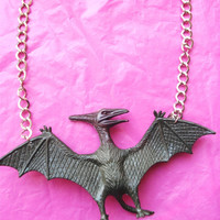Pterodactyl Dinosaur Necklace by OneOfAFindJewellery on Etsy