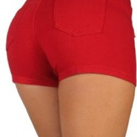 Basic shorts Premium Stretch French Terry With a gentle butt lift stitching:Amazon:Clothing