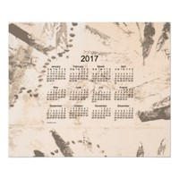 Old Brown Paint 2017 Wall Calendar Poster