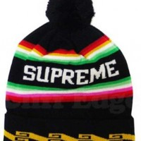 Supreme Bolivia Beanie Black Big Logo Marlin Santa Fe Cdg:Amazon:Everything Else