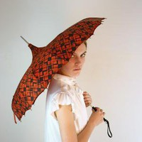 1950's Mahogany Mod Umbrella by jessjamesjake on Etsy