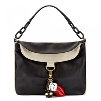 Black and Stone Charm Icons Molly Bag | Shoulder Bags | Handbags | Lulu Guinness