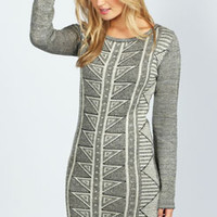 Emilie Metallic Pattern Knitted Dress