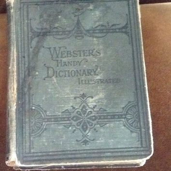 Antique 1877  Webster's Handy Dictionary Illustraded