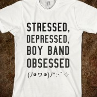 stressed, depressed, boyband obsessed (kawaii version)