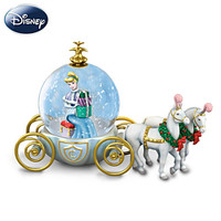 Disney Cinderella Christmas Snowglobe With Coach And Horses