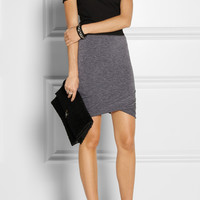 T by Alexander Wang | Ruched jersey mini skirt | NET-A-PORTER.COM