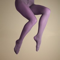 Color Wheel Microfiber Solid Color Tights