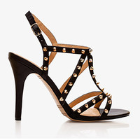 Leather-Lined Spike Gladiator Heels