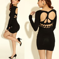 Fanewant — Cool skull hollow out nice sexy dress