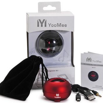 YooMee Red BEAT51 Portable Travel-size Mini Speaker for Apple iPhone 4g, iPad, iPod Touch, Other MP3 Players, Cellular Phones, PC Computers, and Tablet PC (Red):Amazon:MP3 Players & Accessories