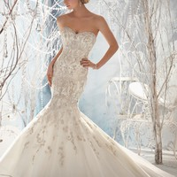 Mori Lee 1963 Beaded Mermaid Wedding Dress